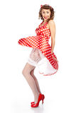 Pin-up girl. American style Royalty Free Stock Image