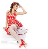 Pin-up-Girl. lizenzfreie stockfotografie