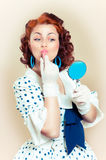 Pin-up girl. American style Stock Photos