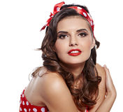 Pin-up girl. Royalty Free Stock Photos