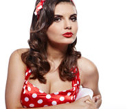 Pin-up-Girl. Stockbilder