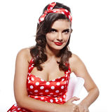 Pin-up girl. Royalty Free Stock Photo