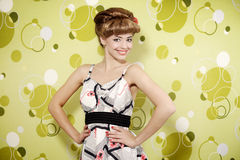 Pin-up girl stock photography