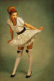 Pin up girl. Royalty Free Stock Photo