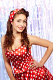 Pin-up girl. American style Royalty Free Stock Photo