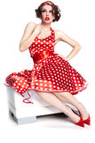 Pin-up Girl. American Style Royalty Free Stock Photos