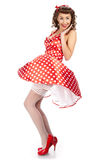 Pin-up girl. American style Stock Image