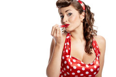 Pin-up girl. American style Royalty Free Stock Images