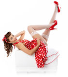 Pin-up Girl. American Style Stock Photo