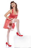 Pin-up girl. American style Stock Images