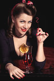 Pin-up girl. American style. Stock Images