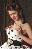 Pin-up girl. American style. Fashion portrait royalty free stock image