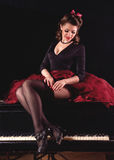 Pin-up girl. American style. Royalty Free Stock Image