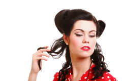 Pin-up girl American style retro woman Stock Photography