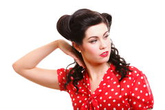 Pin-up girl American style retro woman Stock Image