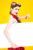 Pin-up girl in american style Royalty Free Stock Photo