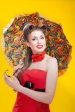 Pin-up girl in american style Royalty Free Stock Images