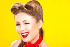 Pin-up girl in american style Stock Photos