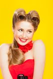 Pin-up girl in american style Stock Image