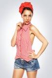 Pin-up-Girl-Aufstellung Lizenzfreie Stockfotografie