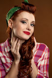 Pin-up girl. Royalty Free Stock Photography