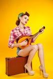 Pin-up girl. Stock Photos