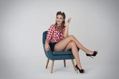 Pin-up girl Stock Image