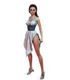 Pin-up girl in diamond studded dress Royalty Free Stock Images