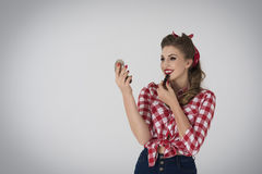 Pin-up girl Stock Photo