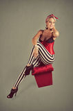 Pin-up Girl in red Costume Stock Images
