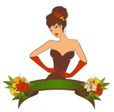 Pin-up girl in retro style. Beautiful pin-up girl in retro style. illustration vector illustration