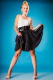 Pin up girl retro style. Stock Photos