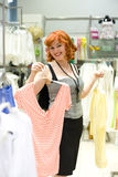 Pin-up girl shopping Royalty Free Stock Photo