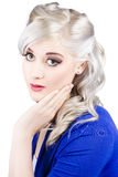 Pin up girl with soft clean skin Royalty Free Stock Photo