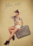 Pin Up Girl sul riassunto Immagini Stock