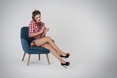 Pin-up girl Royalty Free Stock Photos