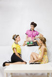 Pin-up girls Stock Photo