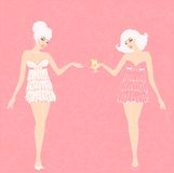 Pin-up girls in retro style Royalty Free Stock Image
