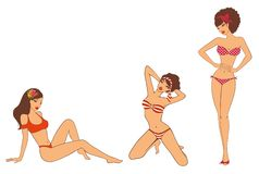 Pin-up girls in retro style Stock Image