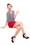 Pin-up-Girlsitzen Stockbild