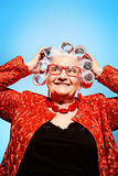 Pin-up Granny Stock Photos