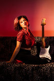 Pin Up with Guitar Stock Images