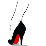 Pin up high heel. Illustration of a Pin up ankle and high heel - cartoon style Stock Images