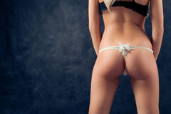 Pin-up image of girl bum Stock Images