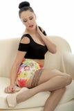 Pin Up Image sensual atractivo de un Caucas joven atractivo hermoso Fotos de archivo libres de regalías