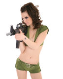 Pin-up model in army outfit Stock Photo
