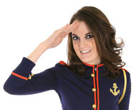 Free Pin-up Model In Sailor Outfit Stock Image - 8294011