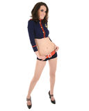 Pin up model in sailor outfit Stock Photo