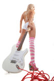 Pin-up and music Royalty Free Stock Images