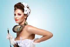 Pin-up party. Royalty Free Stock Photo